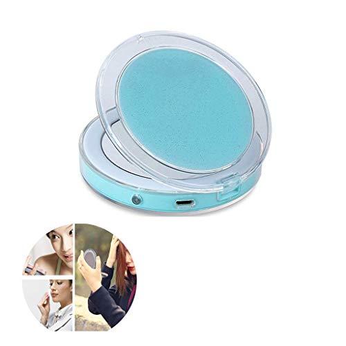 WLABCD Espejo Led Compacto Espejo de Maquillaje Espejos de Maquillaje de Bolsillo Espejo de Inducción Inteligente Espejo de Maquillaje de Viaje Espejo de Mano Espejo Portátil Iluminar Espejos Plegabl