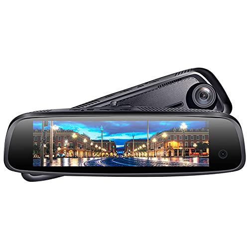 LFJG Dash CAM Cámara Delantera Y Trasera FHD 1080P con Visión Nocturna, Cámara De Salpicadero con Pantalla IPS De 8 Pulgadas para Coches, Función Bluetooth, Gran Angular De 170 °, G-Sensor