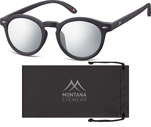Montana Eyewear Sunoptic MS28 Sonnenbrille in schwarz, inklusive Softetui