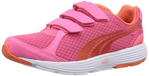 Puma Unisex-Kinder Descendant V Jr Hallenschuhe, Pink (fluo pink-nasturtium 18), 38.5 EU