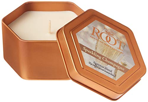 Root Travel Tin Beeswax Candle, Sparkling Champagne
