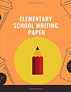 elementary writing paper: Notebook lined large : hand lettering practice paper/ calligraphy paper practice/ calligraphy paper with lines/lettering ... lined paper/homeschooling supplies 2nd grade