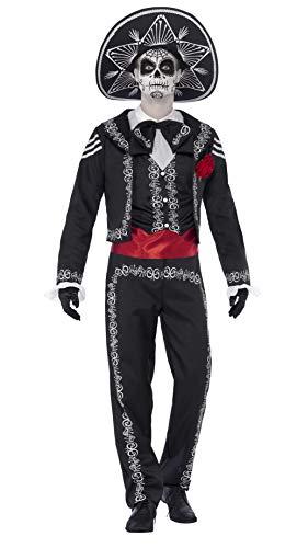 Smiffy's 43738M - Día de Muertos Señor Bones - Disfraz para adultos, talla M