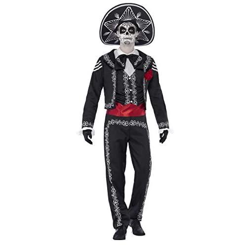 Smiffys Costume Se?or Ossa Giorno dei Morti, comprende Giacca, Pantaloni, Camicia Finta , L