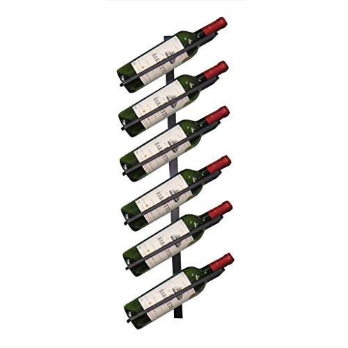 LEZDPP Porta Bottiglie da Vino 6 Bottiglie Parete Wine Rack Bottiglia di Vino di visualizzazione Semplice Scaffale Moderna alla Moda del Vino Bagagli