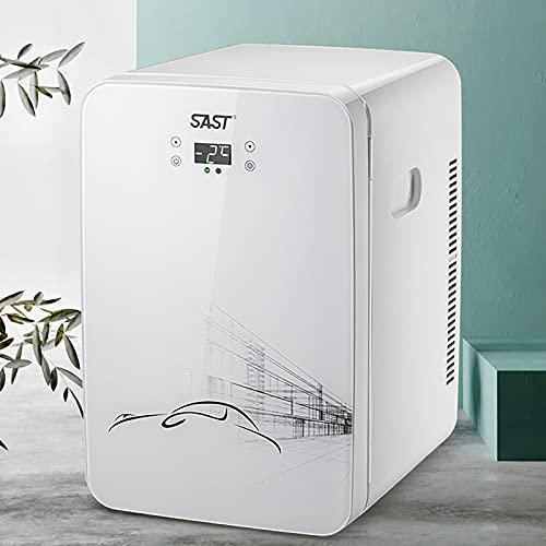 JUNKUN Mini refrigerador pequeño para automóvil de 22L AC/DC para Oficina/Dormitorio/Mini refrigerador portátil para automóvil Se Puede Enfriar y Calentar refrigerador Personal