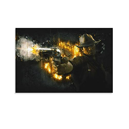 Character Poster Arthur Morgan Poster Decorative Painting Canvas Wall Art Living Room Posters Bedroom Painting 24x36inch(60x90cm)