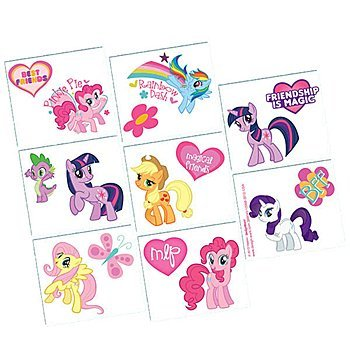 Tattoo   My Little Pony Friendship Collection   Party Accessory