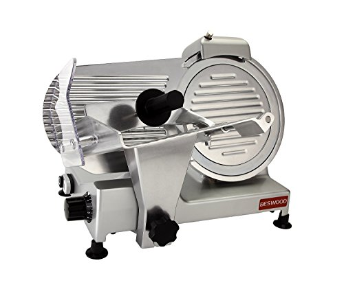BESWOOD 10' Premium Chromium-plated Carbon Steel Blade Electric Deli Meat Cheese Food Slicer...