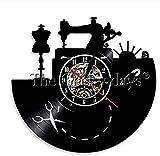 XYVXJ Reloj de Pared de Vinilo Máquina de Coser Disco de Vinilo...