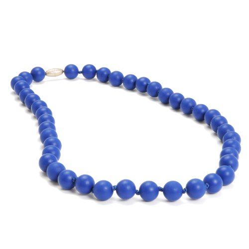 Learn More About Chewbeads Jane Teething Necklace (Cobalt) - Original Fashionable Infant Teething Je...
