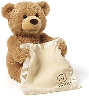 Peek a Boo Teddy Bear Play Hide And Seek Lovely Cartoon Stuffed Kids Birthday Gift 30cm Cute Music Bear Plush Toy