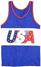 Tipsy Elves Men's USA Tank Top - American Flag Tank Top: Large