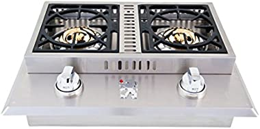 Lion Premium Grills L1707 Propane Gas Double Side Burner, 26-3/4 by 20-1/2-Inch