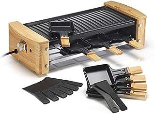 Kitchen chef - kcwood-81 - Appareil à raclette 8 personnes 1200w