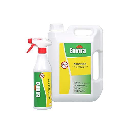 Envira Wespen-Spray - Anti-Wespen-Mittel Mit Langzeitwirkung - Geruchlos & Auf Wasserbasis - 500 ml + 2 Liter