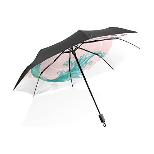 Paraguas de coche para niños Sirena linda Plantilla de diseño de vectores...