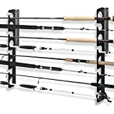 Homydom Fishing Rod Wall Storage Rack, Fishing Pole Holder for Garage & Cabin & Basement, Heavy Duty - Holds...