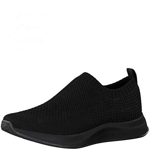 Tamaris Damen Slip-On Sneaker, Frauen Halbschuhe,lose Einlage,Women's,Halbschuhe,Sportschuhe,Slipper,Gummizug,atmungsaktiv,Black Uni,40 EU / 6.5 UK