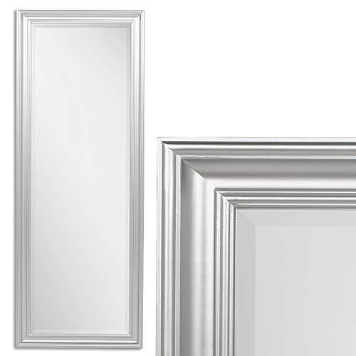 LEBENSwohnART Spiegel Garvin Glanz Silber ca. 160x60cm Modern Schlicht Wandspiegel Facette