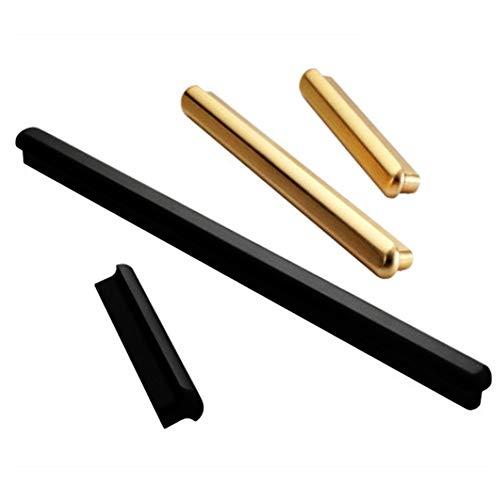 Lwieui Türhardware-Griffe Griffe Kupfer Farbe Schrank-Handgriff Moderner Minimalist Black Wardrobe Goldener Türgriff Packung mit 10 Retro Türgriff. (Farbe : Gold, Size : 96mm)