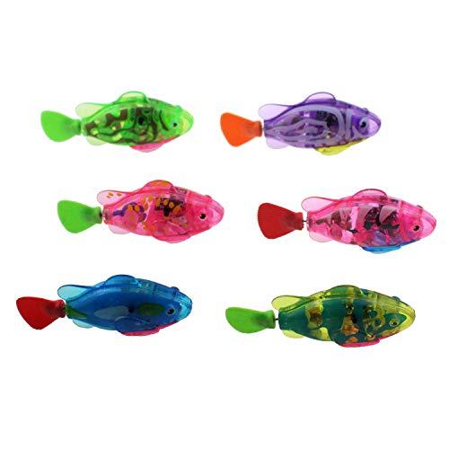 Escomdp baño de Peces eléctricos Juguetes Animales electrónicos Mascotas bañera natación niños Agua Juguete Navidad Regalo de cumpleaños pequeños Tanque de Peces Regalo para niños (6 Colores)