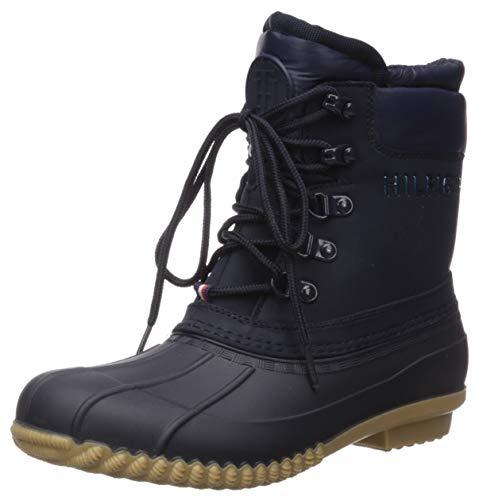 Tommy Hilfiger Women's Muddy Snow Boot, Blue, 8