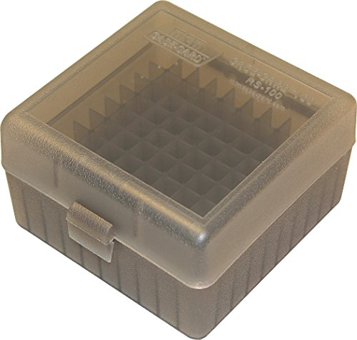MTM 100 Round Rifle Ammunition Box RS-100 Smoke