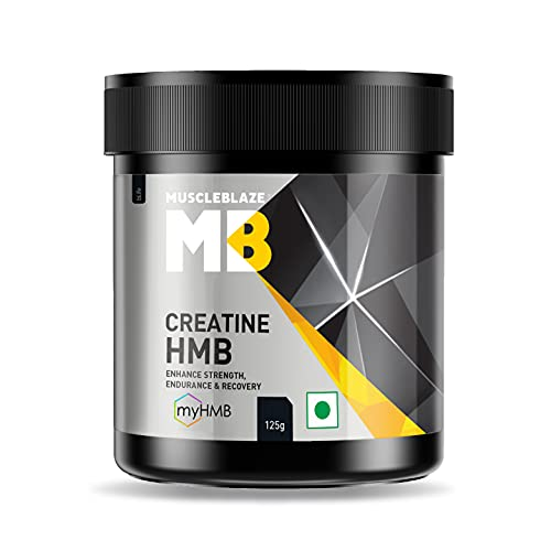 MuscleBlaze Creatine HMB with myHMB | Strength, Power & Endurance | Muscle Protein Synthesis | 125g
