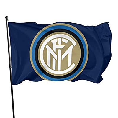 House Yard Inter Milan Garden Flag Fade Resistant Decoration One Size for Outdoor Indoor Lawn Party Decor