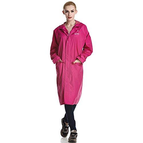 QFF mode paar windbreaker regenjas lange snit vrouwelijke mannen zelf montage regenjas poncho draagbaar