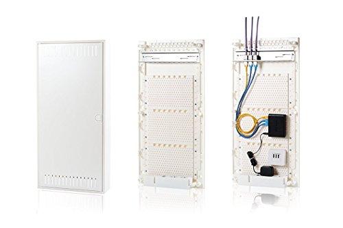 f-tronic Kommunikationsverteiler Vision K, Aufputz, 4-reihig, Montageplatte, APV48K