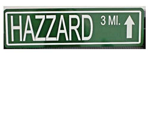 Yilooom Hazzard Metal Street Sign Dukes of Hazzard BO Luke Roscoe Daisy Cooter BOSS HOGG
