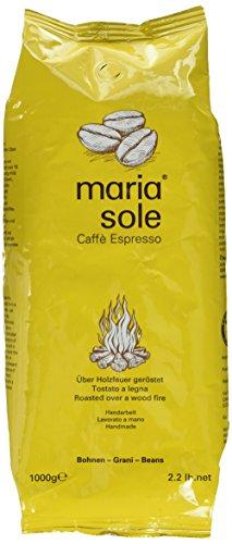 MariaSole Caffè Espresso Ganze Kaffeebohnen aus Italien 1kg Premium Espressobohnen über Holzfeuer handgeröstet 1000g