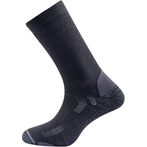 Devold Herren Multi Light Socken, Black, EU 38-40