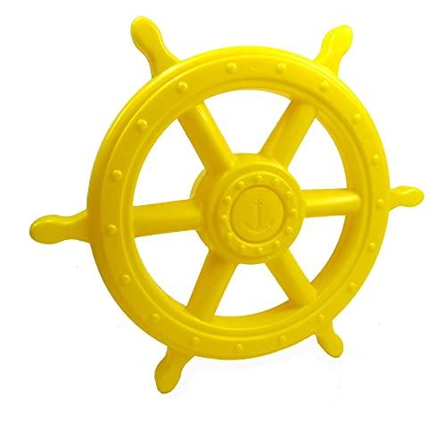 Gartenpirat Steuerrad Gelb großer Schiffslenker Pirat für Kinder Outdoor