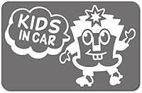 imoninn KIDS in car ステッカー 【マグネットタイプ】 No.65 ハーイさん (シルバーメタリック)