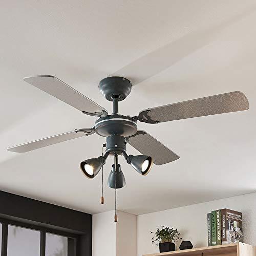 Lindby Deckenventilator mit Beleuchtung und Zugschalter leise | 2-in-1: Ventilator & Lampe | Durchmesser: 107,6 cm | 3 Geschwindigkeitsstufen | Sommer- & Winterbetrieb