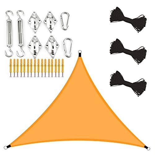 ZJHTK Toldo Vela de Sombra Sombra Impermeable Sombra Rectangular Protección UV Usado para Patio Jardín Camping Terraza Balcón,Naranja,6x6x6m