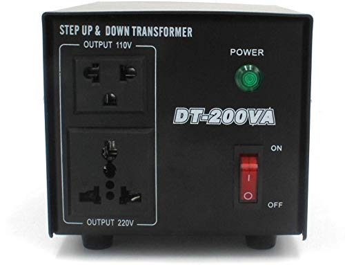 Yinleader DT-200VA 110 Volt USA Spannungswandler Ringkern-Transformator 200 VA - In: 110V oder 220V / Out: 110V und 220V