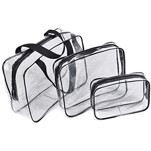 Transparent Cosmetic Bag PVC Men Women Makeup Bag Case for Cosmetics Travel Organizer Clear Beautician Toiletry Pouch Wash Bags