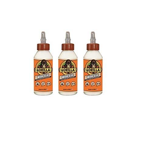 Gorilla Wood Glue, 8 Ounce Bottle, (3 Pack)