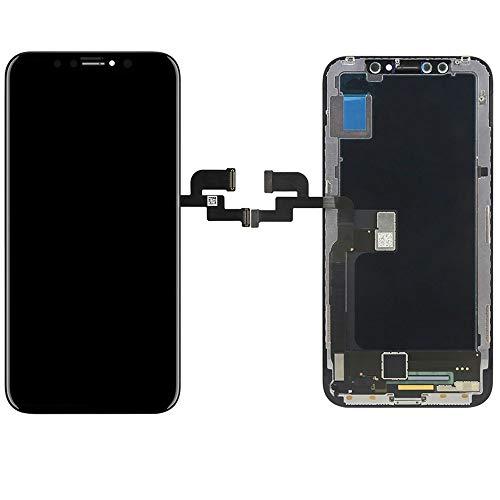 Wigento Display LCD Komplett Einheit Touch Panel passend  für Apple iPhone X / 10 5.8 Zoll Schwarz Ersatz Glas + Opening Tool Werkzeug