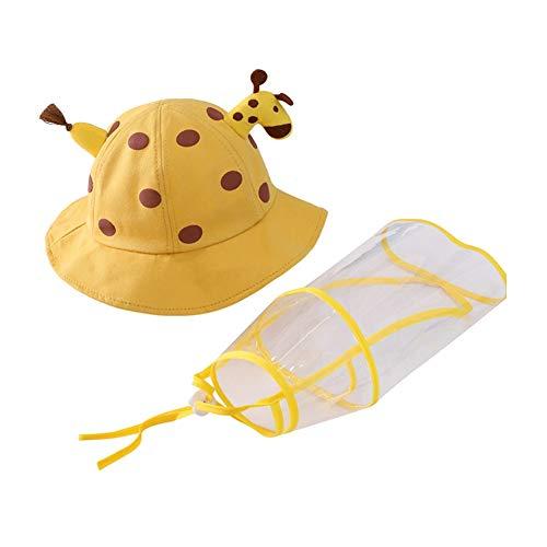 iClosam Sombrero Protección Niños Extraíble Gorros de Pescador,Gorra para Exterior Interior Unisex para 1-3 años