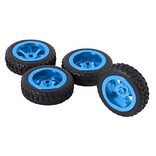 Exanko 4 Piezas de NeumáTicos y Ruedas de Coche RC para K969 K989 P929 K999 Iw04M AWD Iw02 Rm02 Rm03 Dgawd -Z RC 1/28 Piezas de Coche, Azul