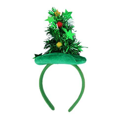 HEALIFTY Árbol de navidad Banda para el cabello Aro para el cabello Adornos navideños con adornos para los niños...