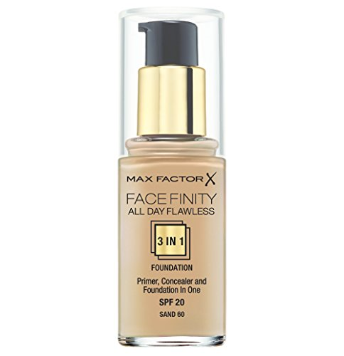 Max Factor Face Finity 3 in 1 Primer, Concealer and Foundation 30ml-60 Sand