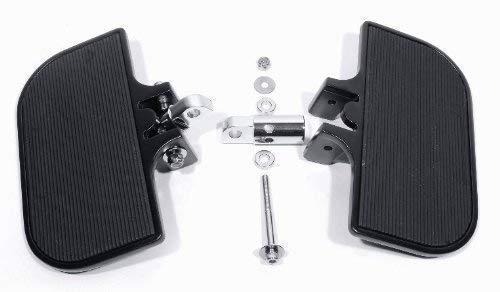 Trittbretter Set verstellbar Schwarz Fahrer Sozius für Harley Davidson HD Custom
