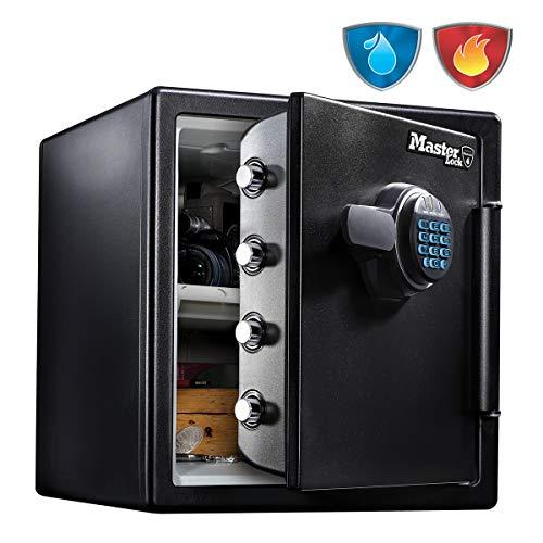 Master Lock Caja Fuerte de Seguridad [Ignifuga y Resistente al Agua] [Combinación Digital] [X large] -LFW123FTC, Negro, Extra Large