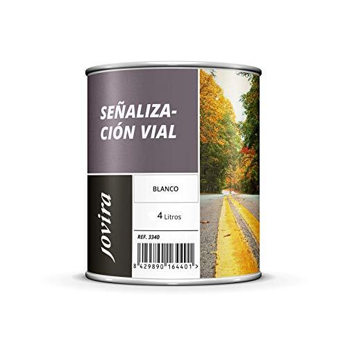 PINTURA SEÑALIZACIÓN VIAL Pintura especial para la señalización horizontal de tráfico. (4 L, BLANCO)